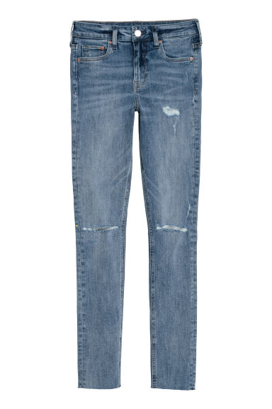 Skinny Regular Jeans - Denimblauw/trashed -  | H&M NL