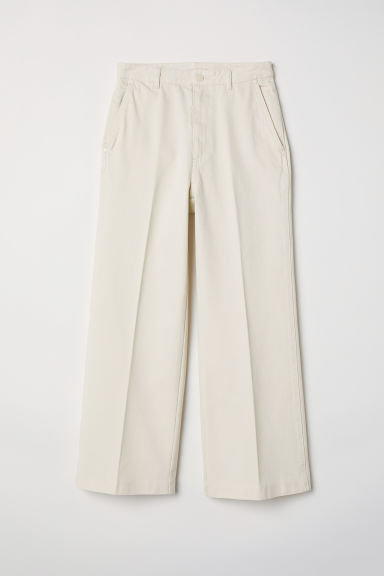 Wide jeans - White - Ladies | H&M CN