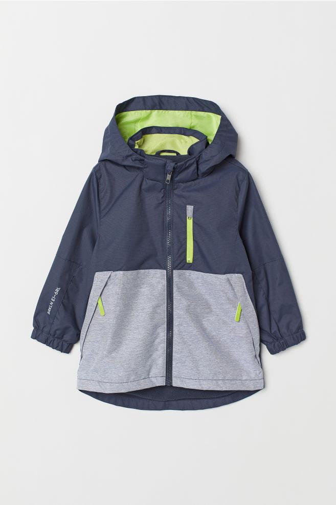 5f99cf1bf Fleece-lined Shell Jacket - Dark blue/color-block - Kids | H&M US