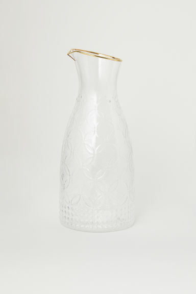 Strukturmønstret karaffel - Klart glass - Home All | H&M NO