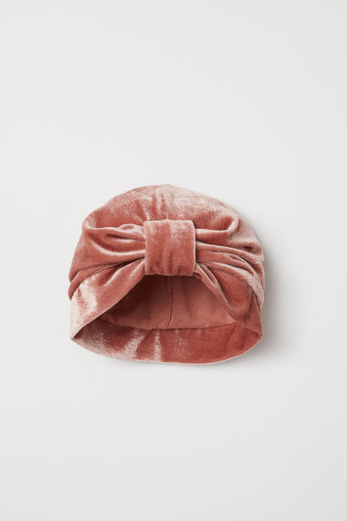 Crushed velvet turban - Dark old rose - Kids | H&M CN