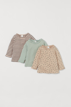 3-pack Ruffled Tops