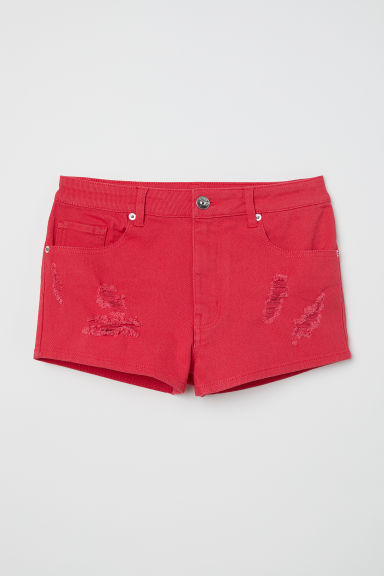 Short van keper - High waist - Rood -  | H&M BE