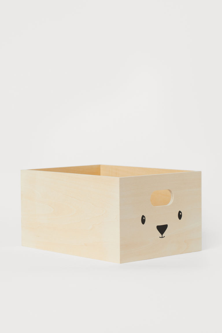 Wooden storage box - Natural - Home All | H&M CN