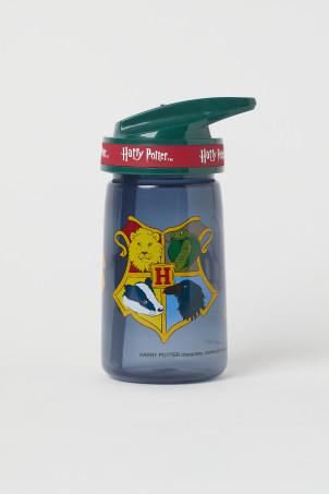 H&M 키즈 해리포터 물통 Printed Water Bottle,Dark blue/Hogwarts