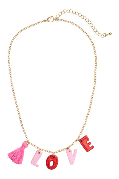 Necklace - Gold-coloured/Pink -  | H&M