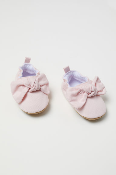 Soft slippers - Light pink/Bow - Kids | H&M