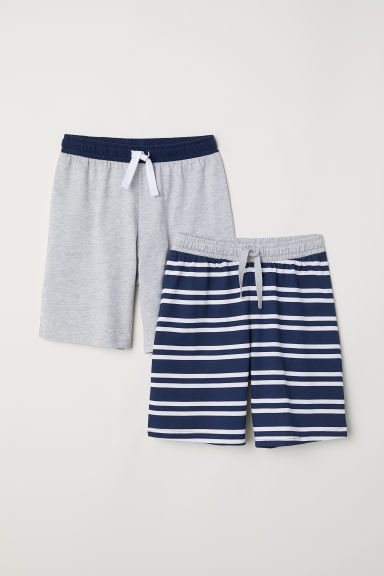 2-pack pyjama shorts - Dark blue/White striped -  | H&M CN