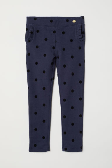 Treggings - Blu scuro/pois - BAMBINO | H&M IT