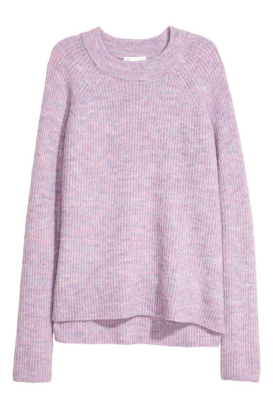 Knitted jumper - Light purple -  | H&M