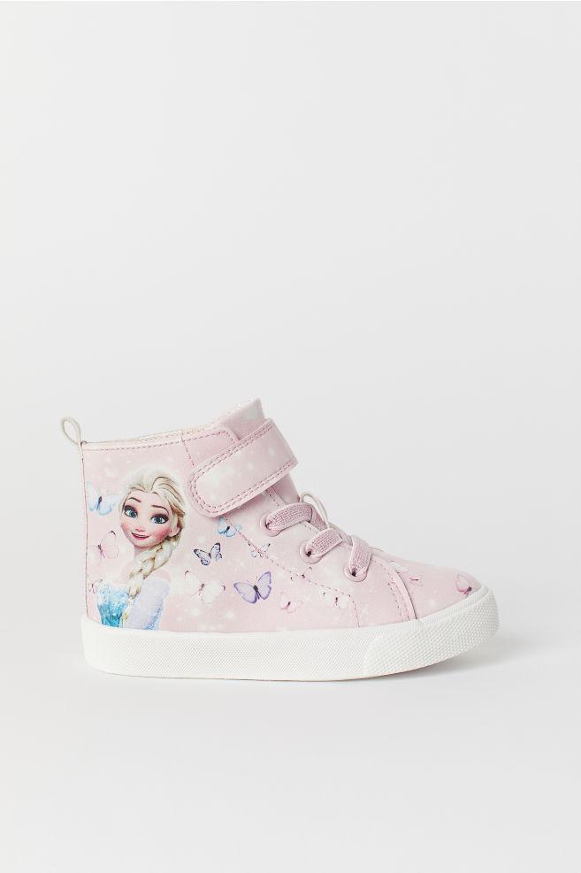 85c1c16cf6fa1 Baskets montantes - Rose clair La Reine des neiges - ENFANT