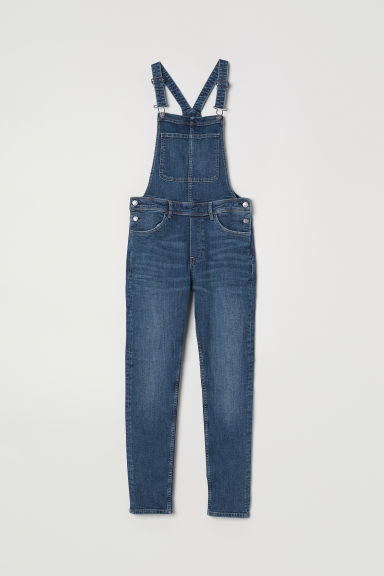 Salopette in denim - Blu denim scuro - DONNA | H&M IT