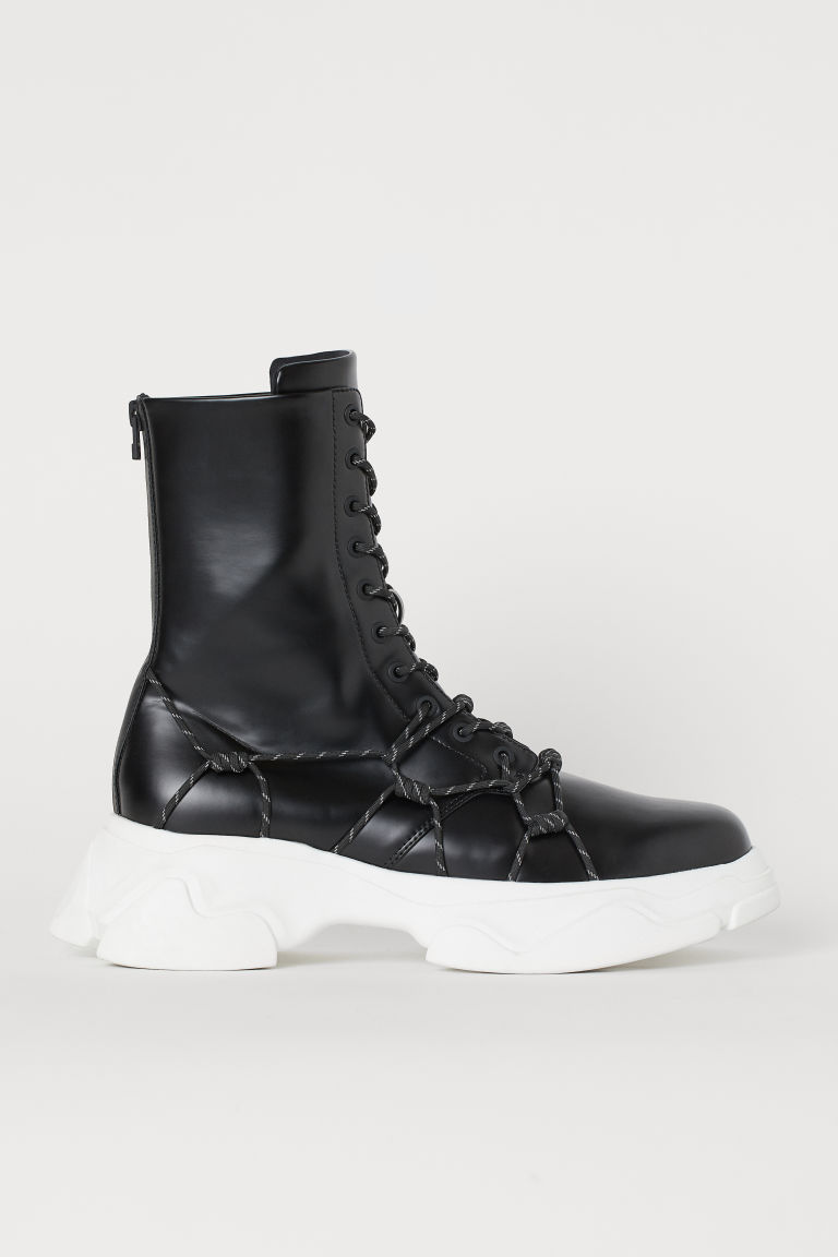Platform boots - Black/White - Men | H&M