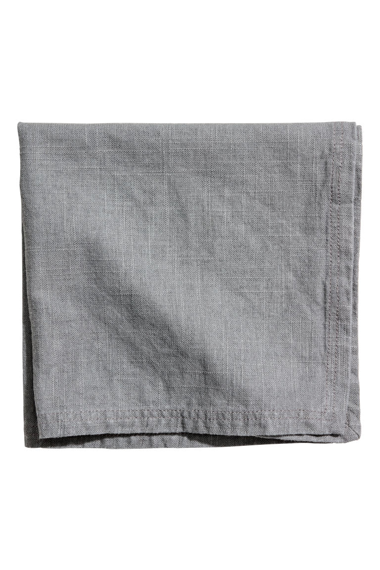 Washed linen napkin - Light grey - Home All | H&M CN