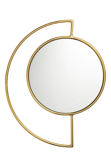 Round mirror - Gold-coloured - Home All | H&M GB