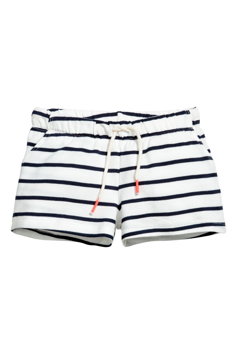 Shorts in jersey - Bianco/righe - BAMBINO | H&M IT