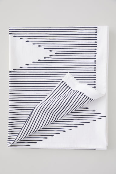 Cotton tablecloth - White/Black patterned - Home All | H&M CN