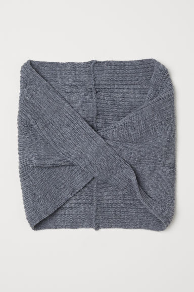 Knitted tube scarf - Grey - Kids | H&M CN
