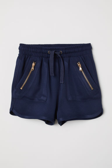Viscose shorts - Dark blue - Kids | H&M CN
