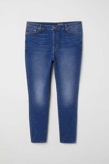 H&M+ Shaping Skinny High Jeans - 牛仔蓝 - Ladies | H&M CN