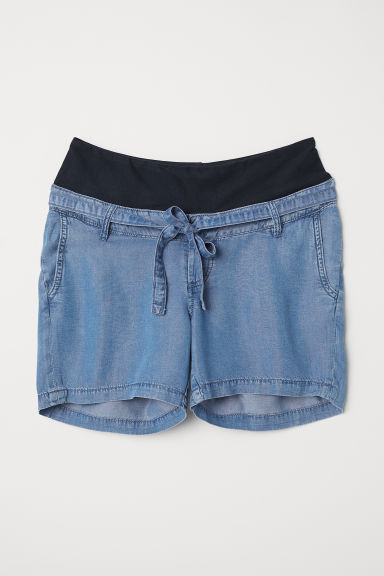 MAMA Lyocell shorts - Denim blue -  | H&M
