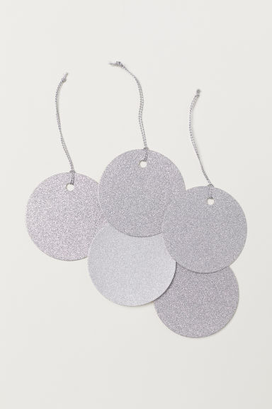 Gift tag - Silver-coloured/Glitter - Home All | H&M CN