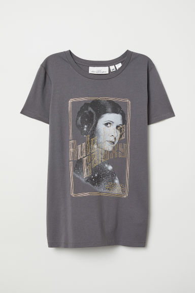 T-shirt met print - Donkergrijs/Star Wars - DAMES | H&M BE