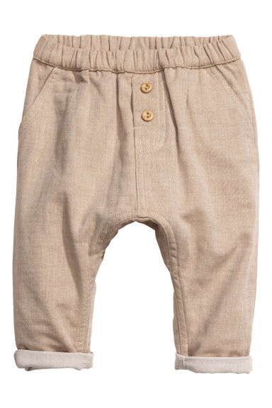 Cotton trousers - Beige - Kids | H&M CN