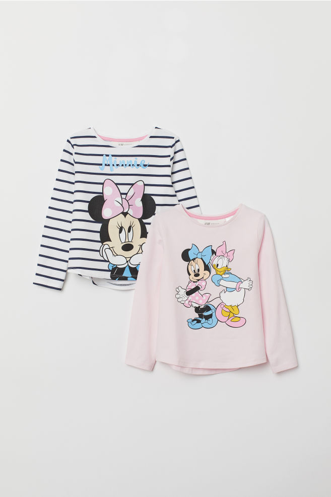 0fbe56ec4 2-pack jersey tops - Blue striped/Minnie Mouse - Kids | H&M IN