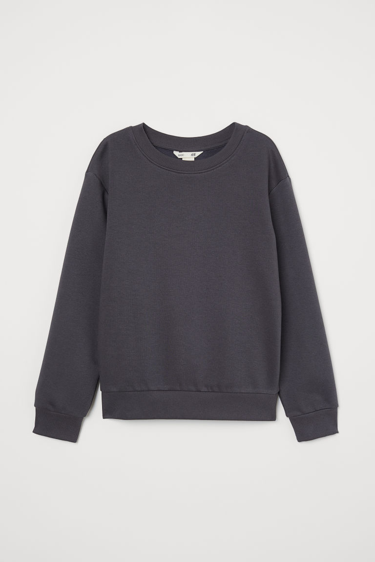 Sweatshirt - Dark grey - Kids | H&M IE