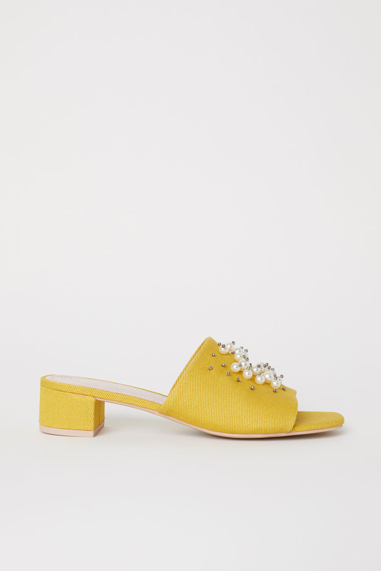 Mules - Yellow - Ladies | H&M