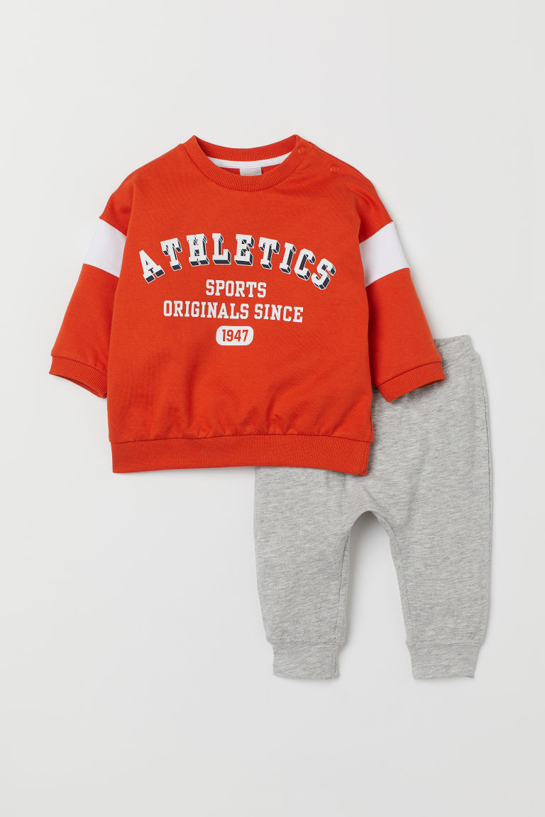 Sudadera y leggings - Naranja/Athletics - NIÑOS | H&M ES