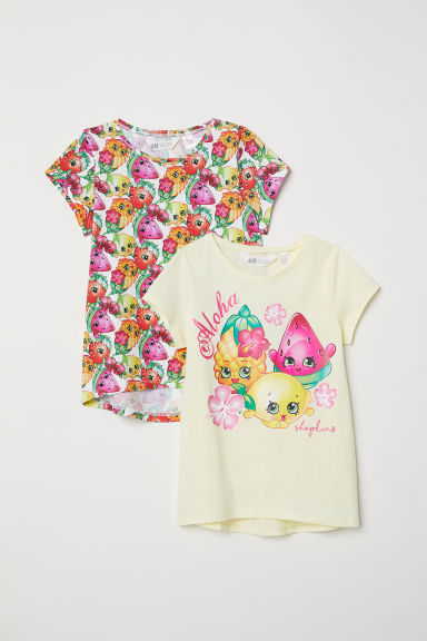 T-shirts, lot de 2 - Jaune clair/Shopkins -  | H&M FR