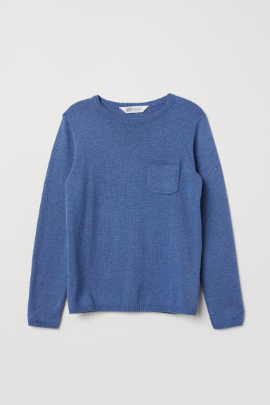 Fine-knit jumper - Blue - Kids | H&M CN