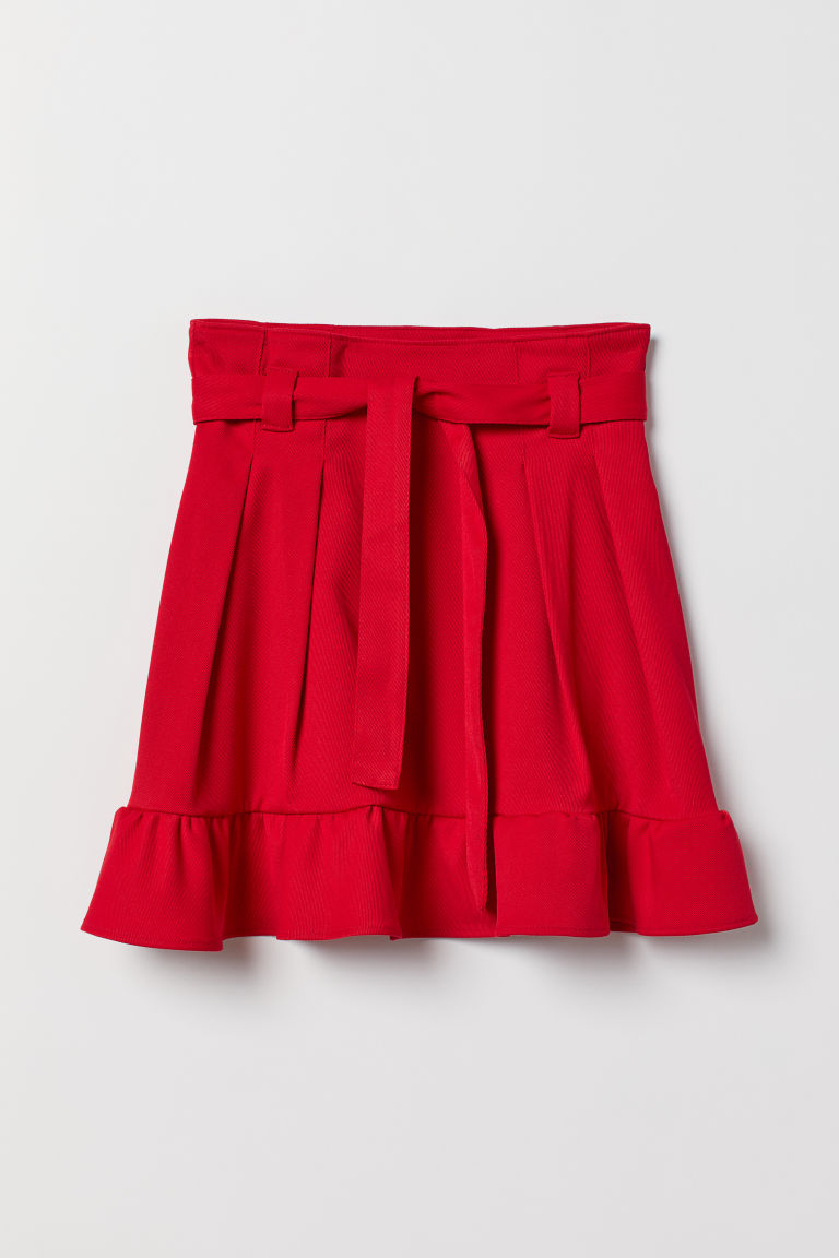Flounced skirt - Red - Ladies | H&M