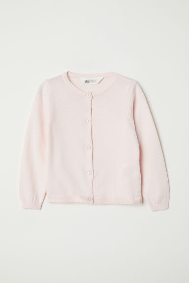 Fine-knit cardigan - Light pink - Kids | H&M
