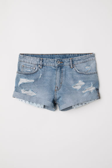 Jeansshort Girlfriend Low - Denimblauw - DAMES | H&M BE