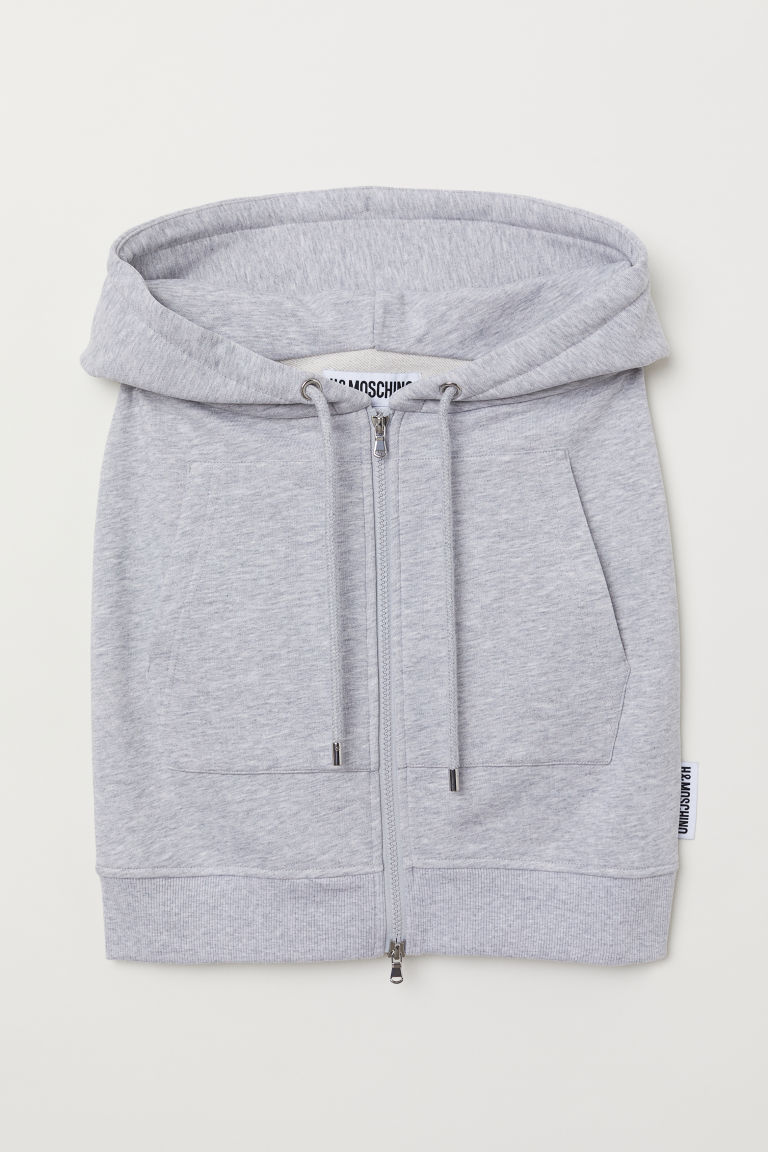 Skirt with a hood - Light grey marl - Ladies | H&M