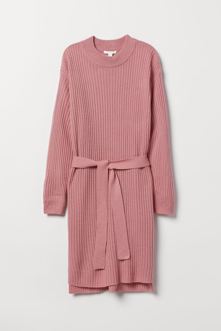 Knitted dress - Old rose - Ladies | H&M CN