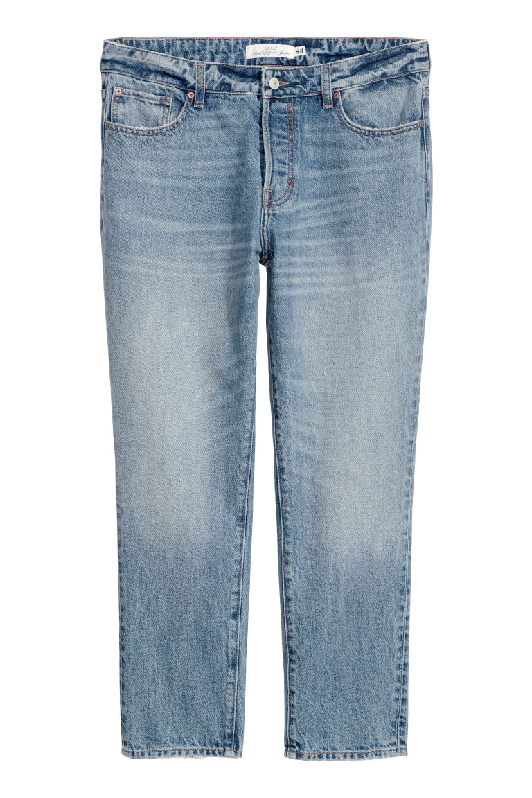 Girlfriend Jeans - Light denim blue -  | H&M