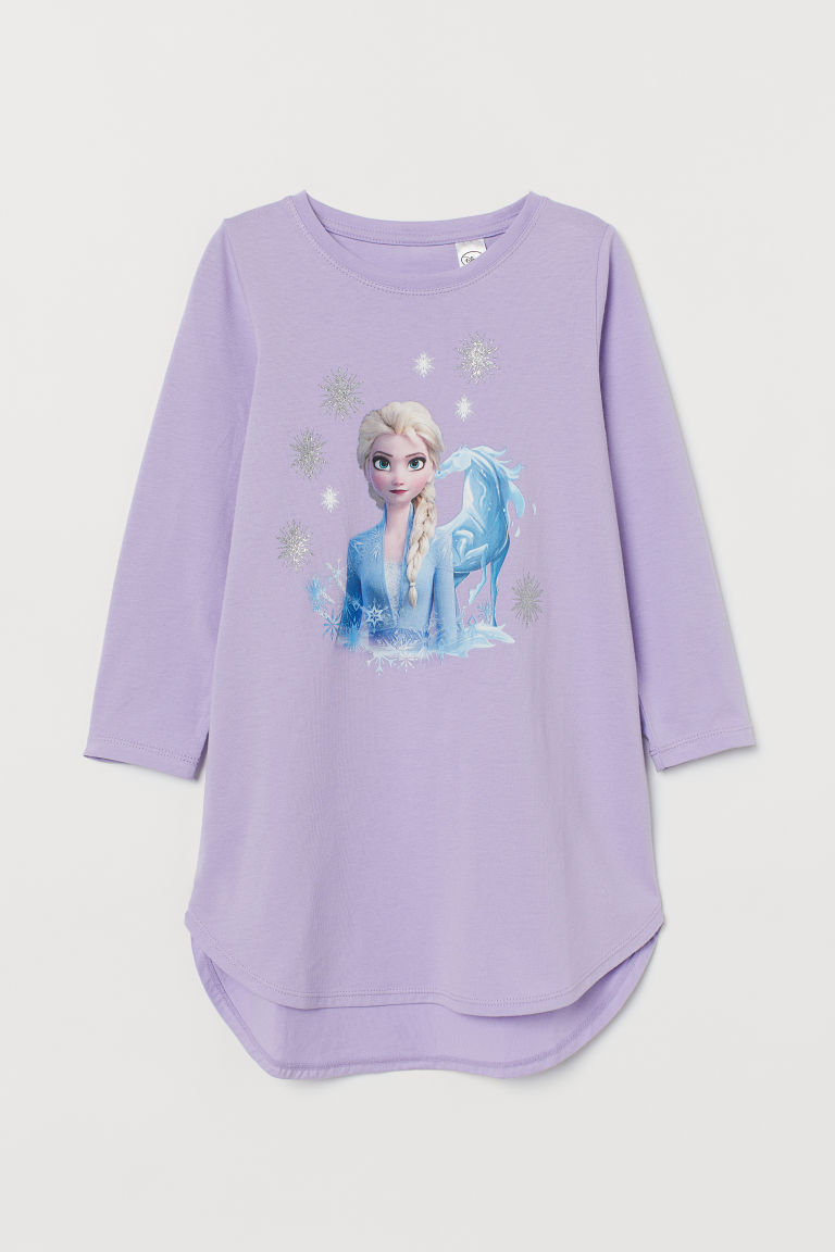 Printed nightdress - Light purple/Frozen - Kids | H&M