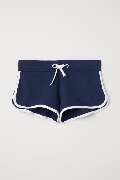 Sweatshirt shorts - Dark blue - Ladies | H&M CN