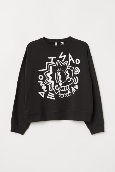 Printed sweatshirt - Black/The Simpsons -  | H&M