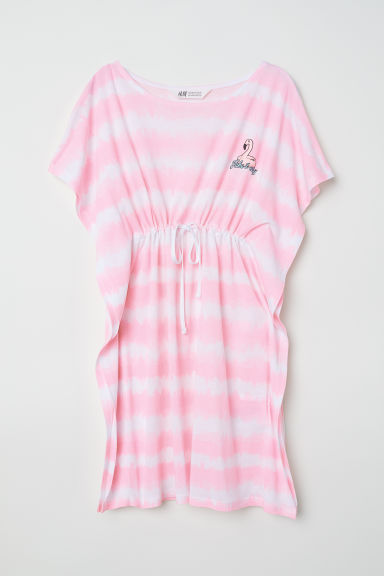 Dress with a drawstring - White/Flamingo - Kids | H&M
