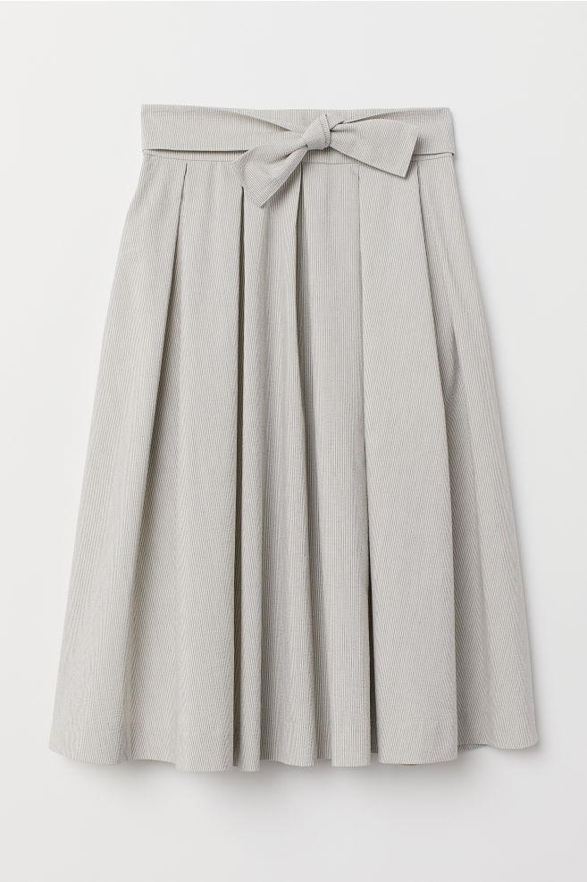 da1a0ec57 Pleated Skirt - Cream/striped - Ladies   H&M ...