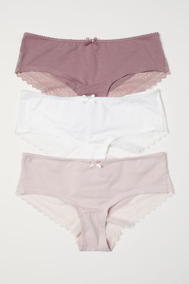 3-pack cotton hipster briefs - Light pink - Ladies | H&M CN