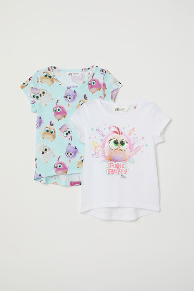 2-pack T-shirts - Light turquoise/Hatchlings -  | H&M