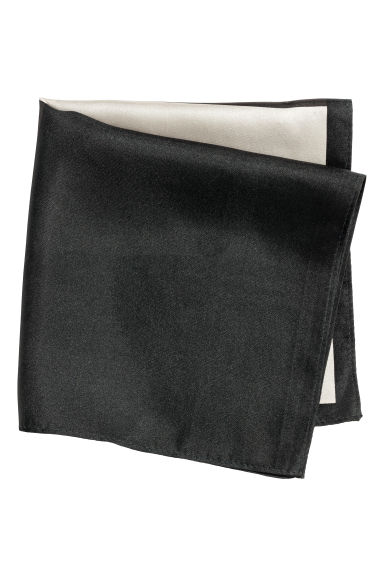 Patterned silk scarf - Black/Patterned - Men | H&M