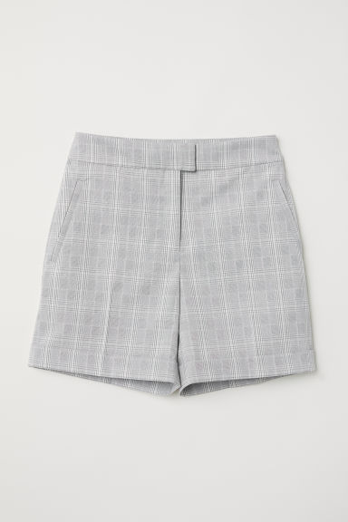 Chino shorts - Light grey/Checked - Ladies | H&M