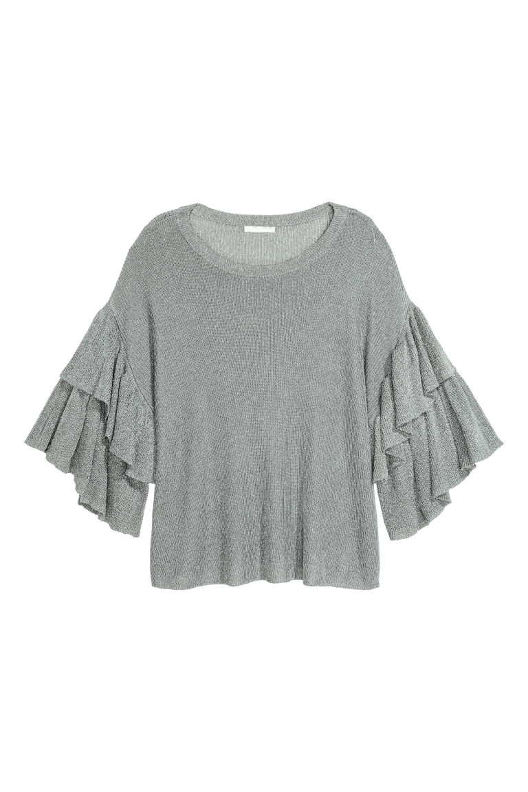 Knitted top - Grey - Ladies | H&M